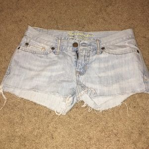 Abercrombie and Fitch light wash denim shorts